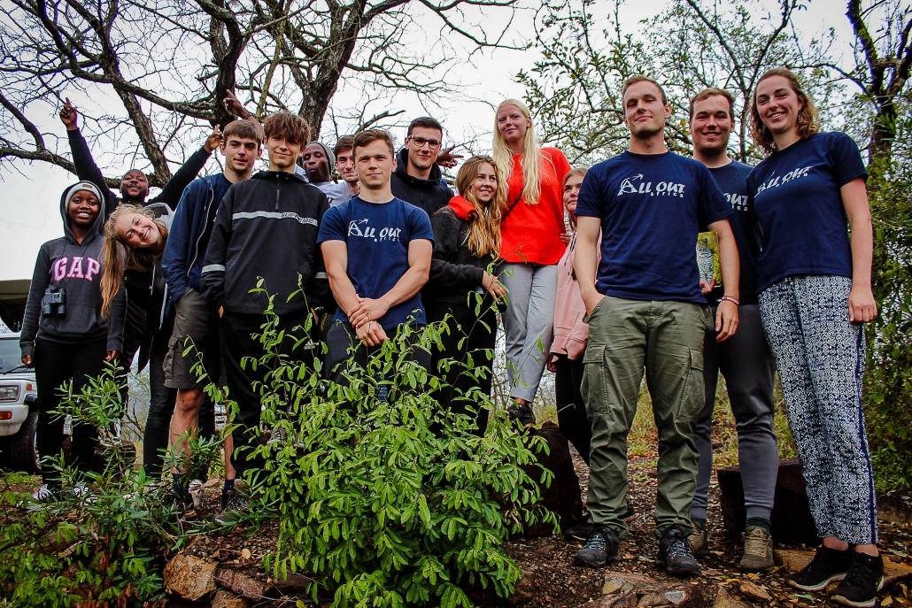 University students researching ecosystem services in southern Africa
