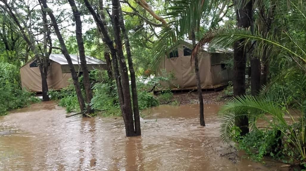 The Savannah Research Centre Camp being flooded