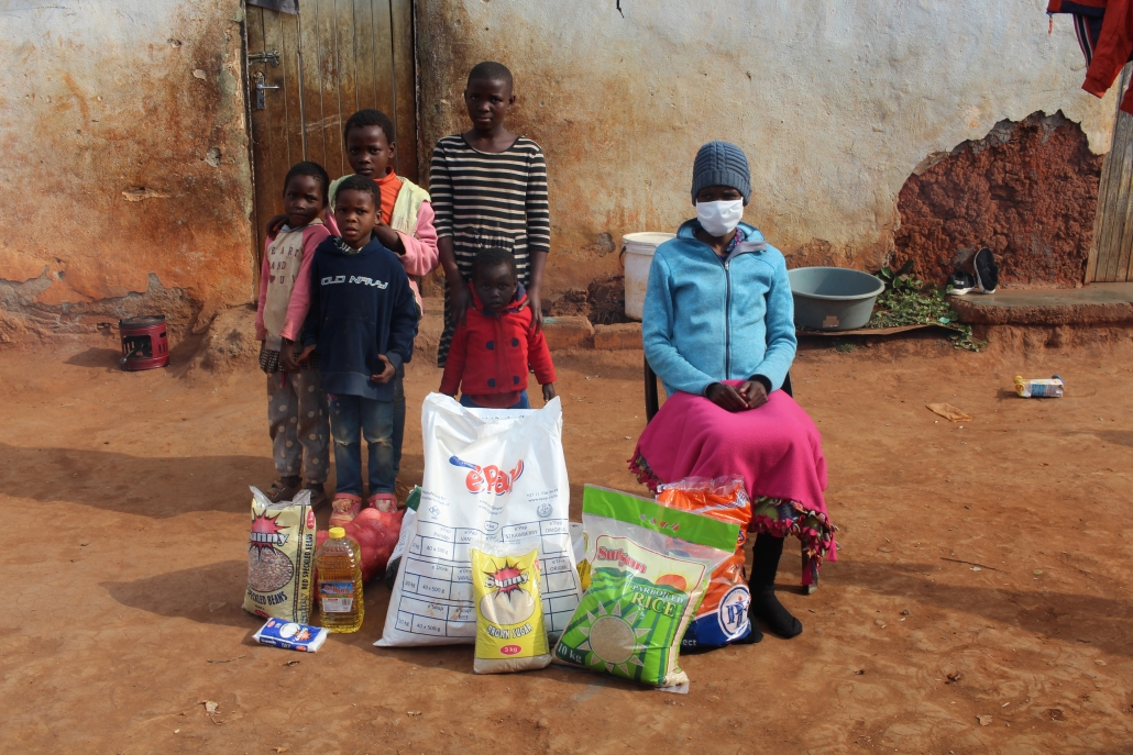 All Out Africa doing food parcel deliveries
