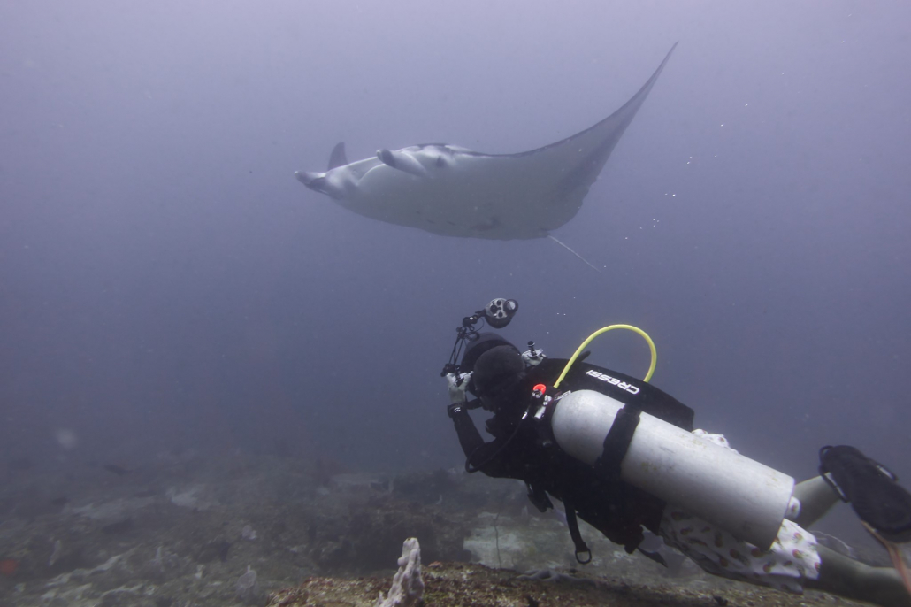 A diver taking ID Shot