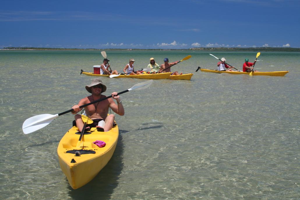 Kayaking Tofo Mozambique's Indian ocean
